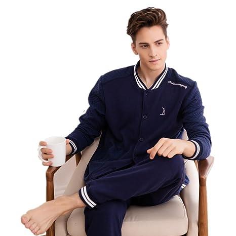 NIGHTSLEEP Pijama de Traje de Hombre 100% Tela de Algodã³n ...