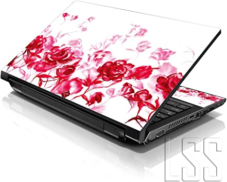 Floral LSS 17 17.3 inch Laptop Notebook Skin Sticker Cover Art Decal Fits 16.5 17 17.3 18.4 19 HP Dell Apple Asus Acer Lenovo Asus Compaq Free 2 Wrist Pad Included