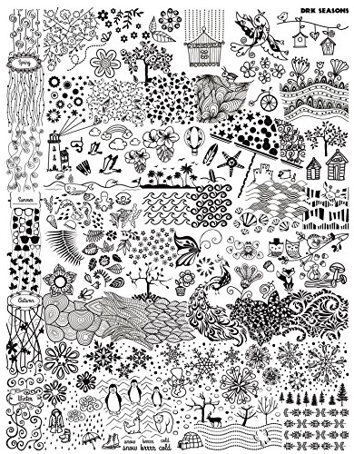 DRK Nails Seasons Stamping Plate (XL size) (Drk Nail Stamping Plates)
