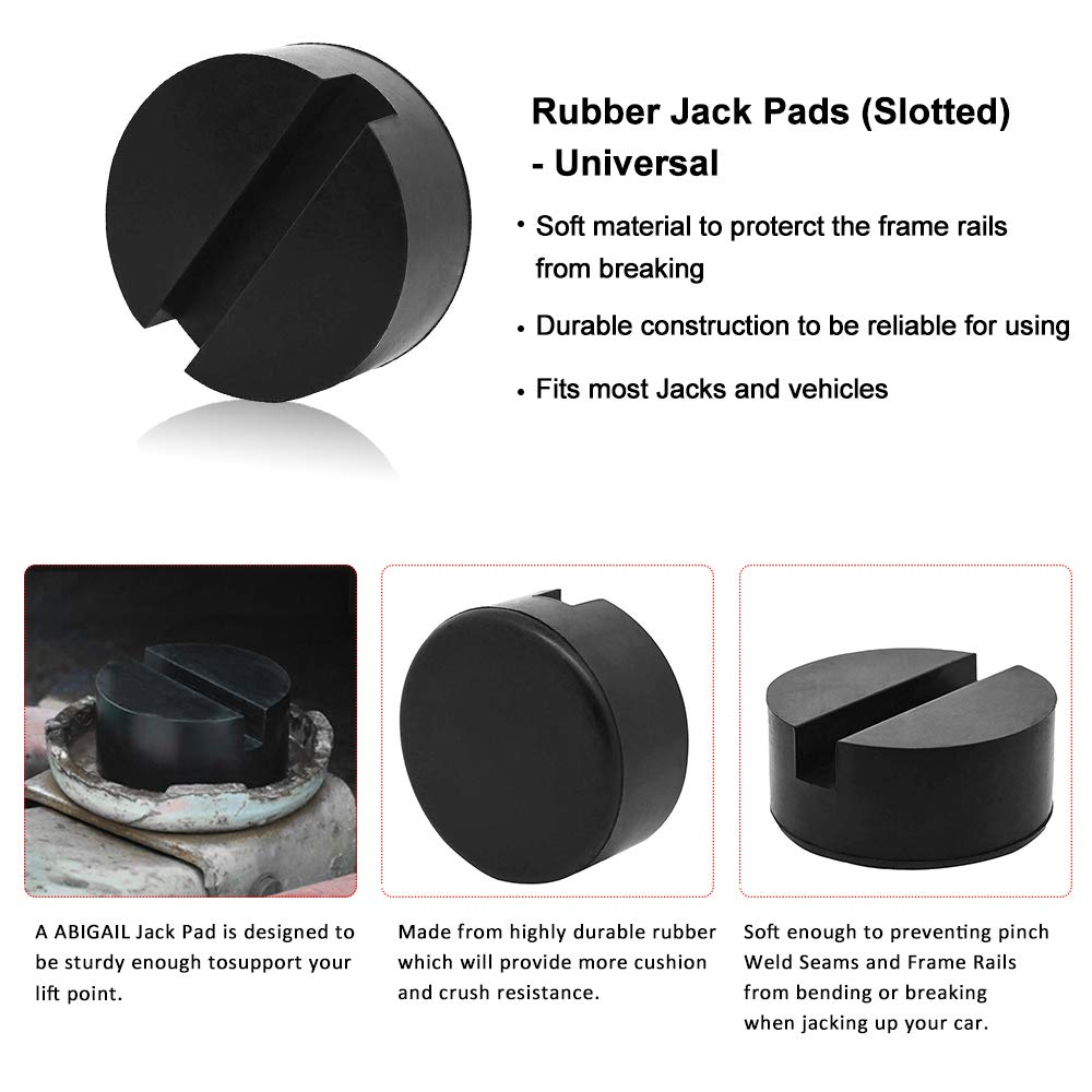 Frame Rail Protector A ABIGAIL Standard-Size Rubber Jack Pads Slotted - Universal