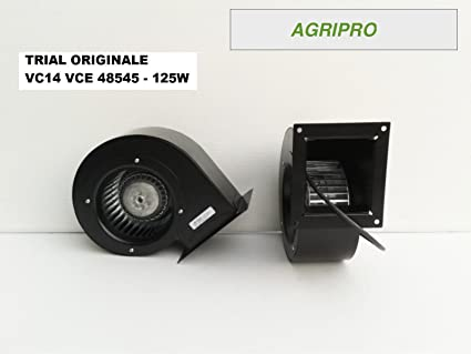 Ventilador centrífugo Trial VC14 W 125 Motor para calderas a ...