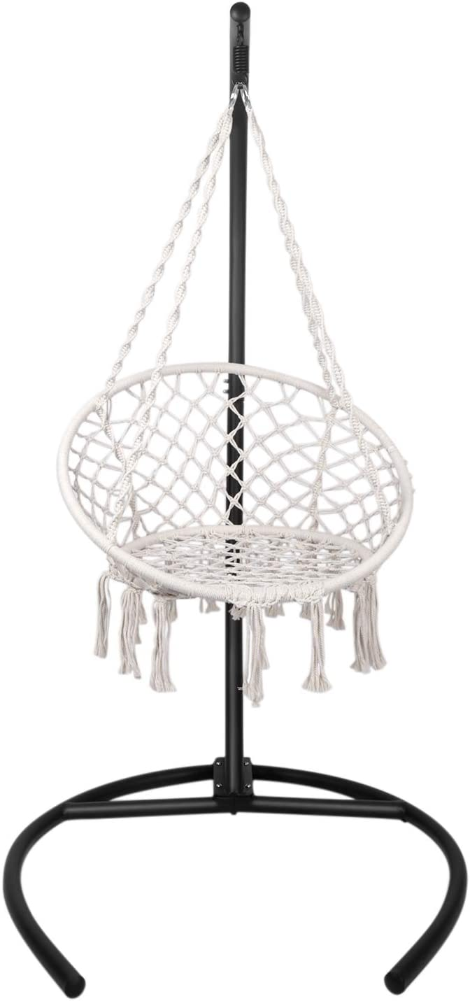 TheirNear Hanging Chair with Stand for Bedroom Indoor Hammock Swing Chair