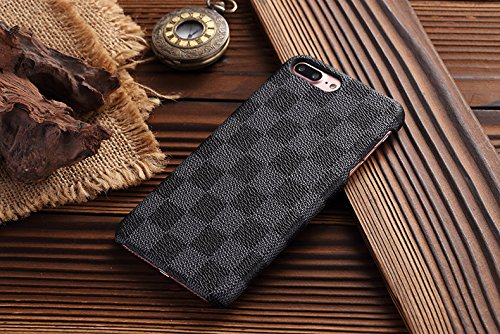 Gucci Iphone (HeiL iPhone 7Plus 8Plus TPU (US Deliver Guarantee Fulfilled by Amazon) New Elegant Luxury PU Leather Checker Pattern Classic Style Cover Case For Apple iPhone7PLUS iPhonePLUS (Grey))