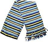 Style & Co. Fleece Scarf Blue Striped