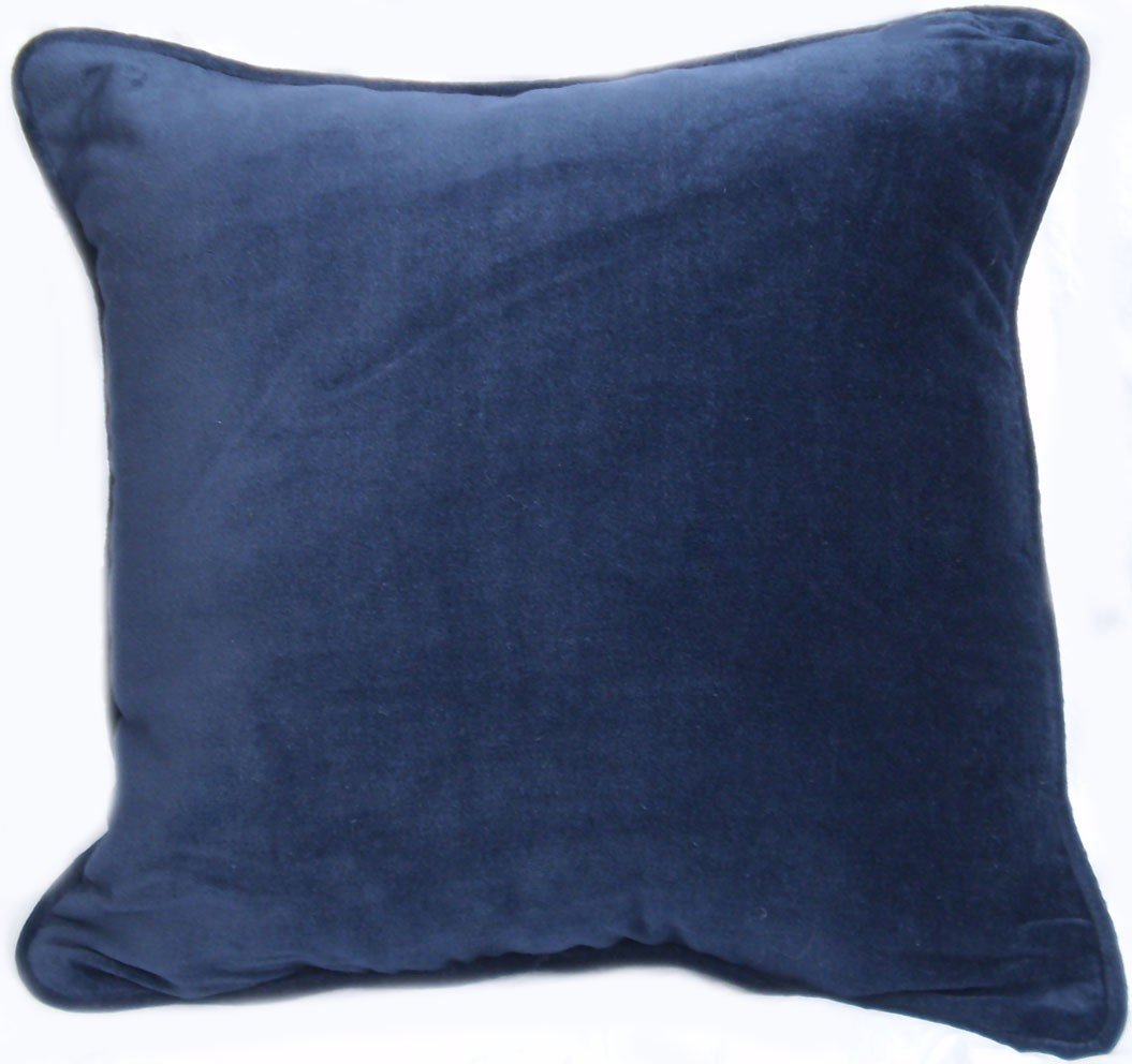 "Amazon.com: Brushed Polyester, 17""x17"", Corded, Navy Blue Throw ..."