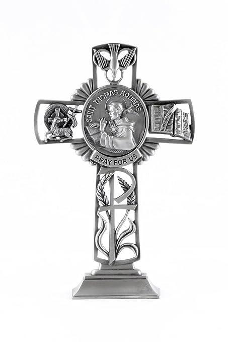 Amazon Pewter Catholic Saint St Thomas Aquinas Pray For Us