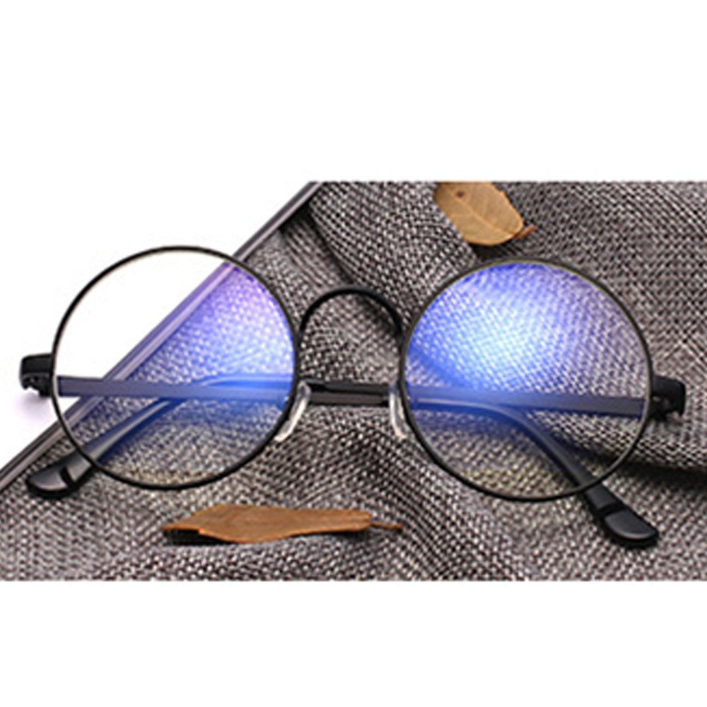Forepin Unisex Tondi Montatura Occhiali da Vista reg; Donna Occhiali in Metallo con Lenti Trasparenti