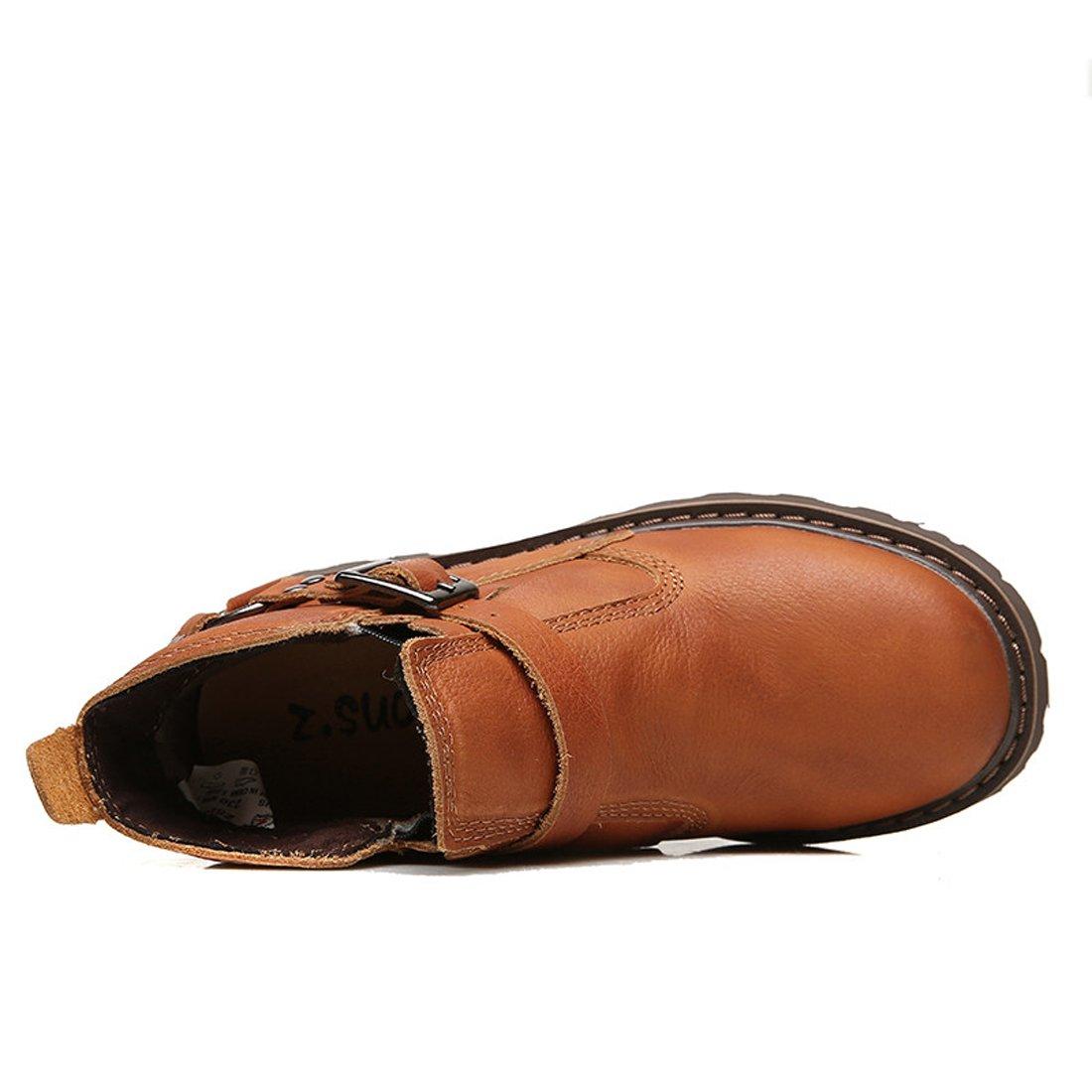 Z.SUO Men Women Unisex Couple Leather Two Wear Fashion Boot B076DCWBJN US W:5.5|Red Brown