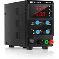 35V 5A DC Power Supply Variable Switching Regulated 3-Digital Power Supply Single-Output 220V, with Alligator Leads, AU…