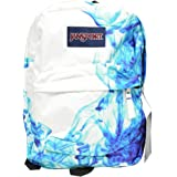 JanSport Superbreak Girly School Backpack B1020: Multi Blue Drip Dye