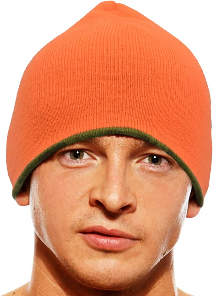 New Hunters Orange Safety Hat Cap Mossy Oak Camo Adjustable Deer Elk Rifle Hunt