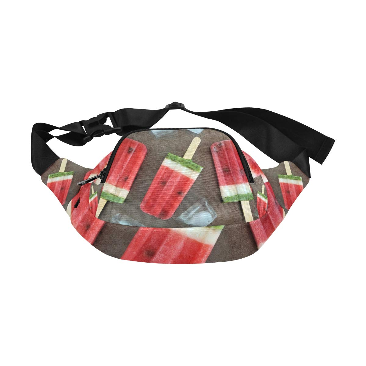 Watermelon Ice-cream On A Stick Fenny Packs Waist Bags Adjustable Belt Waterproof Nylon Travel Running Sport Vacation Party For Men Women Boys Girls Kids
