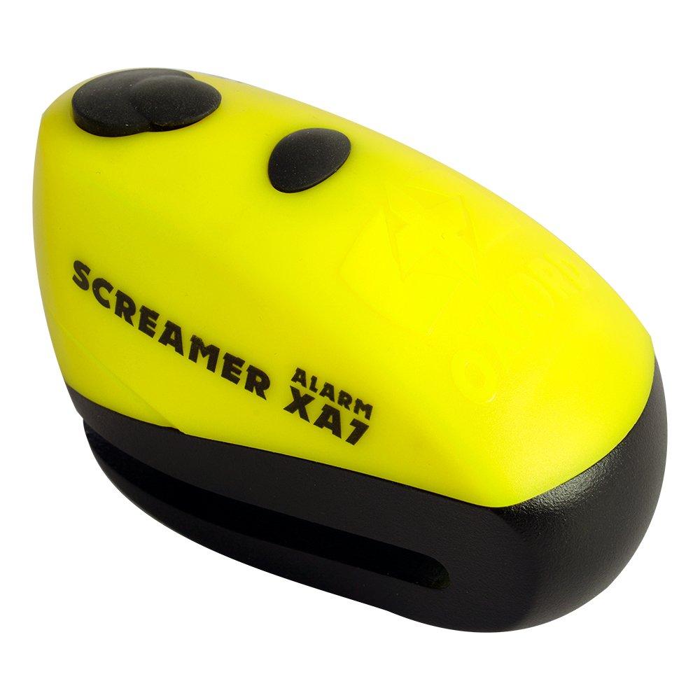 Oxford XA7 Screamer Alarm Disc Lock Motorbike Motorcycle Brake Disc Lock Alarmed Bike Bicycle Yellow//Matt Black