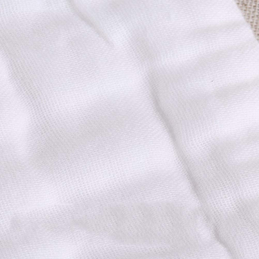 100/% Baumwolle,M Stoffwindeleins/ätze MULI 10pcs Baby Stoffwindel Wiederverwendbare wei/ße Flache Stoffwindeln Prefold Windeln
