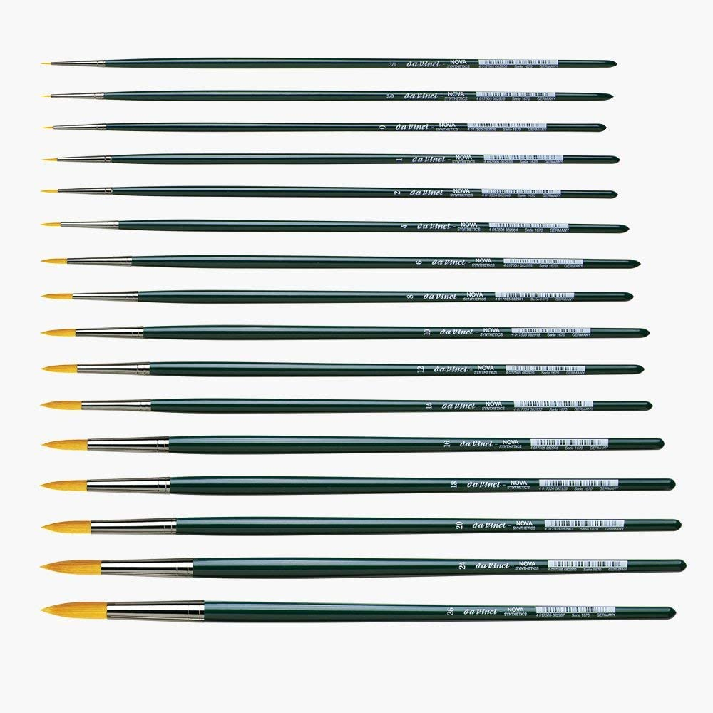 1670-00 Size 0 Round Synthetic da Vinci Nova Series 1670 Oil Painting Brush