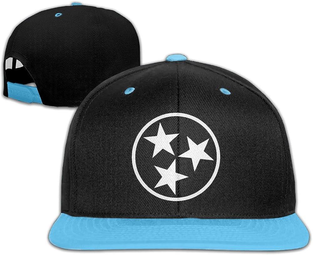 Tennessee State Flag Adjustable Sports Hip Hop Baseball Hat For Children