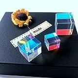 UKCOCO Vetro ottico da 3 confezioni, Cubo prisma a dispersione RGB, perfetto per insegnare la fisica dei fasci di luce (2 * 2 cm, 1,8 * 1,8 cm, 1,5 * 1,5 cm)