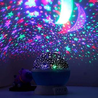 Coquimbo, Moon, Star proyector luz nocturna luz estelar 360 grados ...