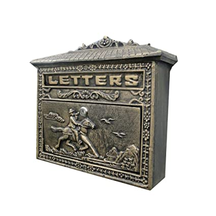 ZfgG Vintage Wall-Mounted Mailbox Lockable Post Box Secure