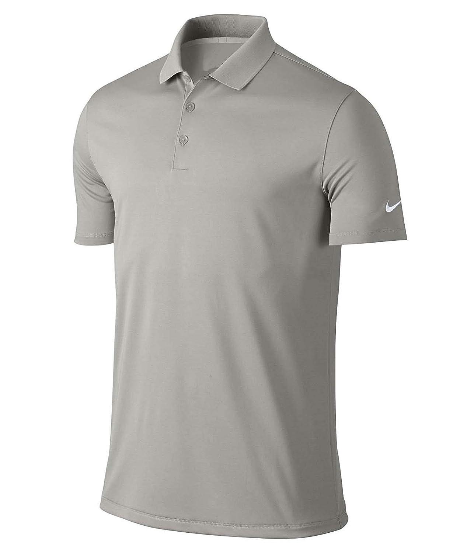 Nike Mens Dri-Fit Victory Golf Polo (Medium, Wolf Grey): Amazon ...