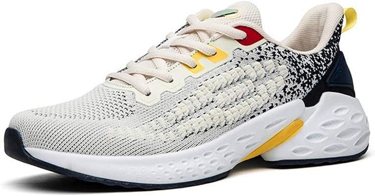 Zapatillas de Deporte para Hombres Zapatos Deportivos de Moda de Verano Gimnasio Informal Fitness con Cordones Zapatillas Transpirables Zapatillas para Correr: Amazon.es: Zapatos y complementos