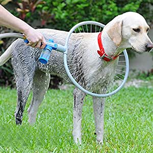Pet Dog Washer 360 Degree Dog Washer Adjustable Clean Canine Ring-Shaped All-Around Woof Washer Pet Bath Shower
