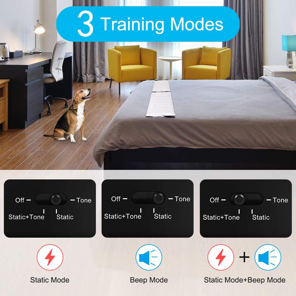 Pet Shock Mat - 60 x 12 Inches Pet Training Mat for Cats Dogs, 3 Training Modes Pet Shock Pad, Indoor Use Dogs Cats Training Mat for Sofa w/LED ...