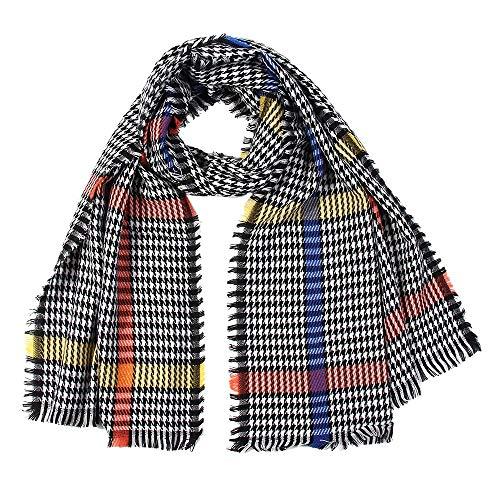 (Christmas Decoration Hot Sale!!Kacowpper Women Houndstooth Scarf Wrap Shawls Headband Soft Shawl Long)