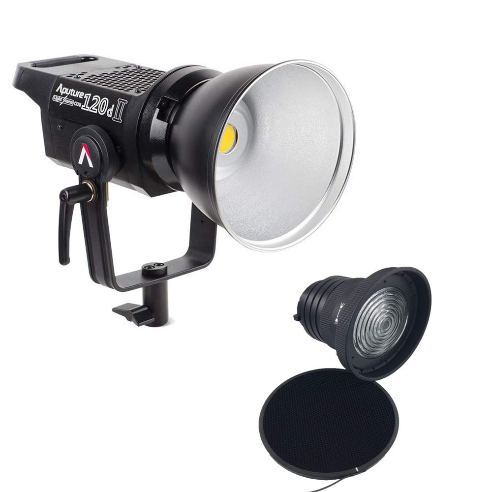 Aputure Light Storm LS C120d II COB 120D Mark 2 + Fresnel mount 180W 5500K LED Continuous Video Light CRI96+ TLCI97+ Bowens Mount,the Ultimate Upgrade,Support DMX,5 Pre-programmed Lighting Effects by Aputure (Image #2)