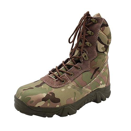 5f8eca64b Yudesun Zapatos para Hombre Botas Militares Botines Desert - Calzado de  Trabajo Botas de Servicio Militar Tobillo Táctico Cuero Ejército Aire Libre  y ...