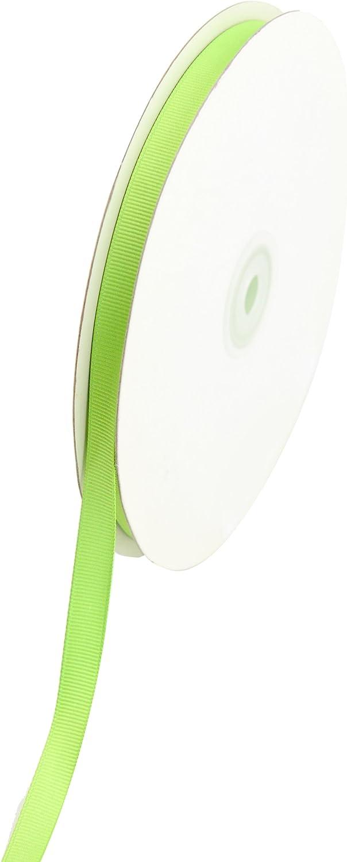 Creative Ideas Solid 3/8-Inch Grosgrain Ribbon, 50-Yard, Apple Green