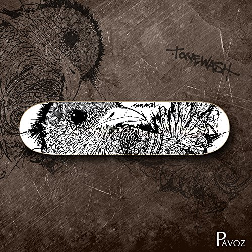Pop Art Skateboard Deck (Skateboard Deck Art Canadian Maple Pavoz bird 32X8 32X8)