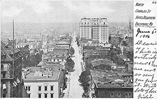 - Baltimore Maryland North Charles Street Scene Antique Postcard K56908