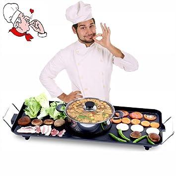 Grill BBQ Estilo coreano al horno olla uno antiadherente antiadherente eléctrico asar olla caliente engrosamiento multifuncional