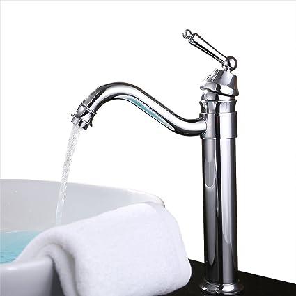 UNILLAP 360° Single Handle Waterfall Bathroom Vanity Sink Faucet ...