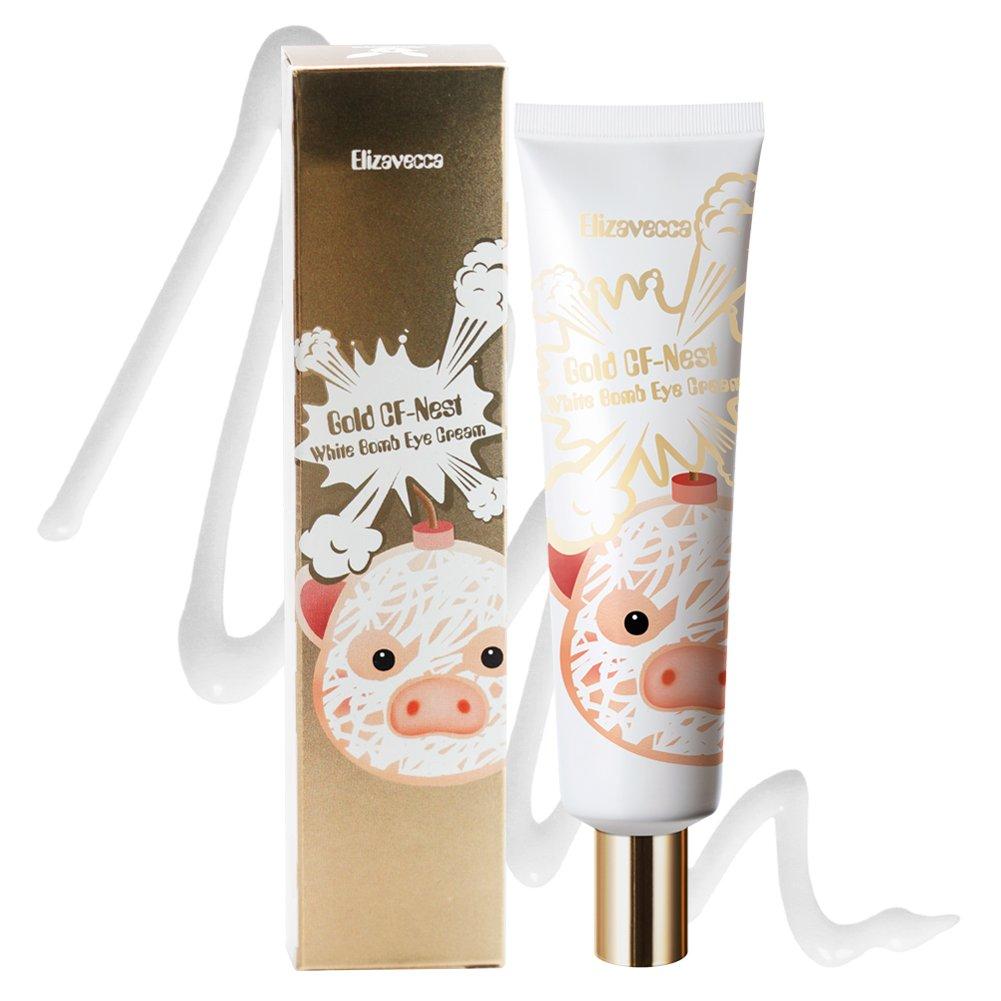 Elizavecca Gold CF-Nest White Bomb Whitening Wrinkles Functionality Eye Cream 30ml / night cream before and after/Eye Cream/eye cream before and after