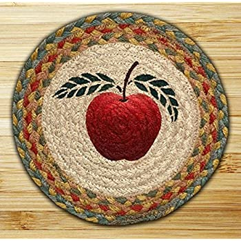 Earth Rugs 80 042 Apple Round Printed Swatch, 10 Inch