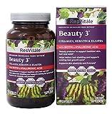 ResVitale - Beauty 3 Collagen, Keratin & Elastin Formula - 90 Capsules
