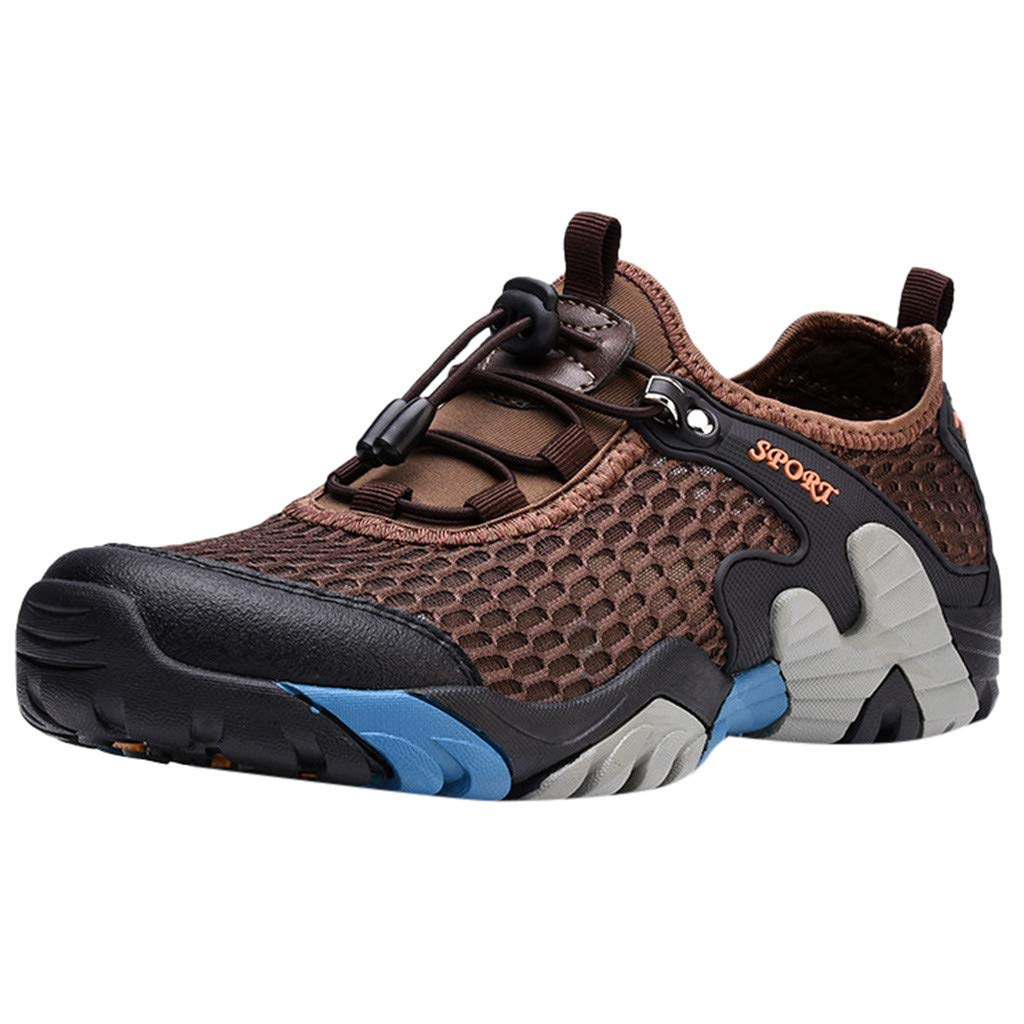 Haalife◕‿Water Shoes for Men Quick Drying Barefoot Shoes Socks for Beach Swimming Diving Surf Yoga Hiking Sport Exercise Brown