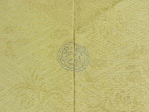 リサイクル 着物 色無地 一つ紋 正絹 袷 裄62cm 身丈151cm