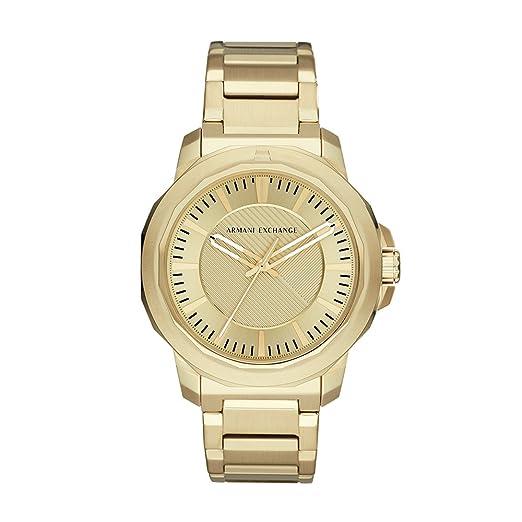 Armani Exchange Reloj Analogico para Hombre de Cuarzo con Correa en Acero Inoxidable AX1901: Amazon.es: Relojes