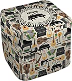 RNK Shops Musical Instruments Cube Pouf Ottoman - 13'' (Personalized)