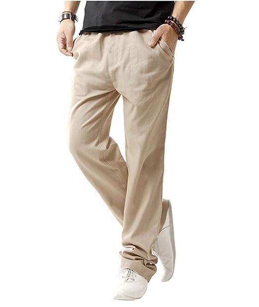 new concept da43a 1d29e Minetom Pantaloni da Uomo, Pantaloni di Lino, Sportivi Casual, Gioventù e  Popolare