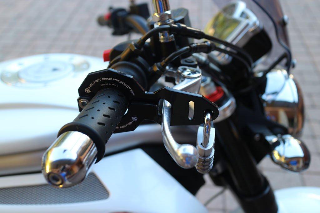Antifurto moto e casco combinato Standard Nero con lucchetto Abus Bimax snc HBP XL