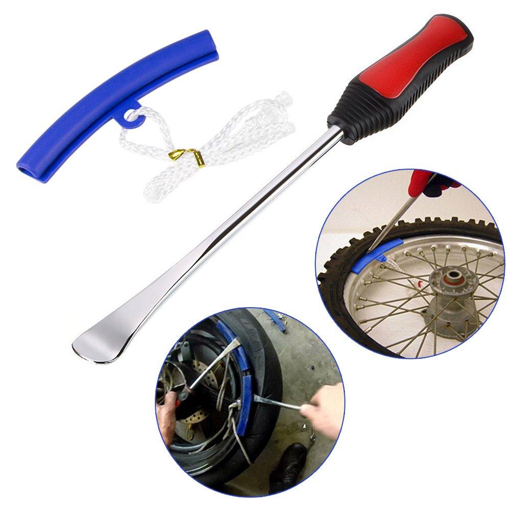 Mookis Desmontadores de Neumático Kits Cambiador de Neumático de Bicicleta, Moto con Protectores de llanta: Amazon.es: Coche y moto
