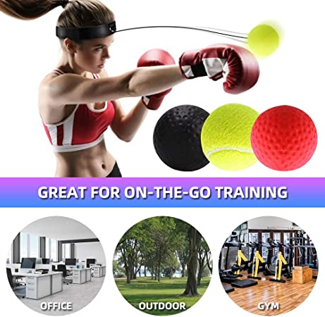 APROTII Boxing Reflex Ball Suspension Fight Ball Boxing Training Speed Ball Home Workout Exercise Equipment