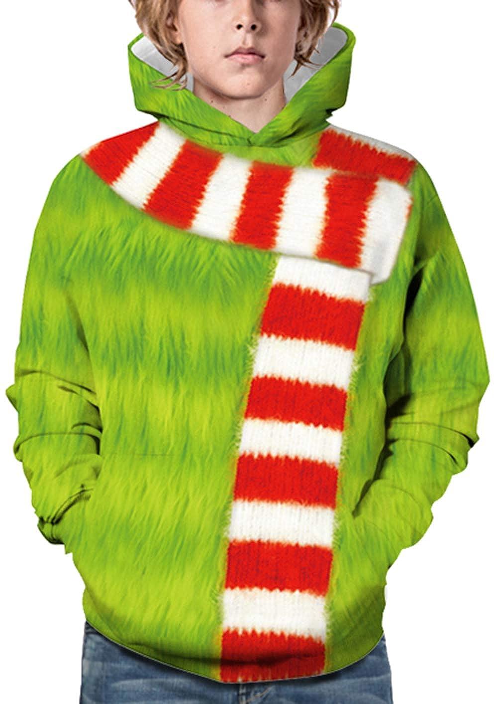 JOAYIN Felpe con Cappuccio Pullover grafiche per Bambini con Stampa 3D Animata Unisex per Bambini Ragazza Ragazzo Divertente Felpe a Maniche Lunghe con Tasche