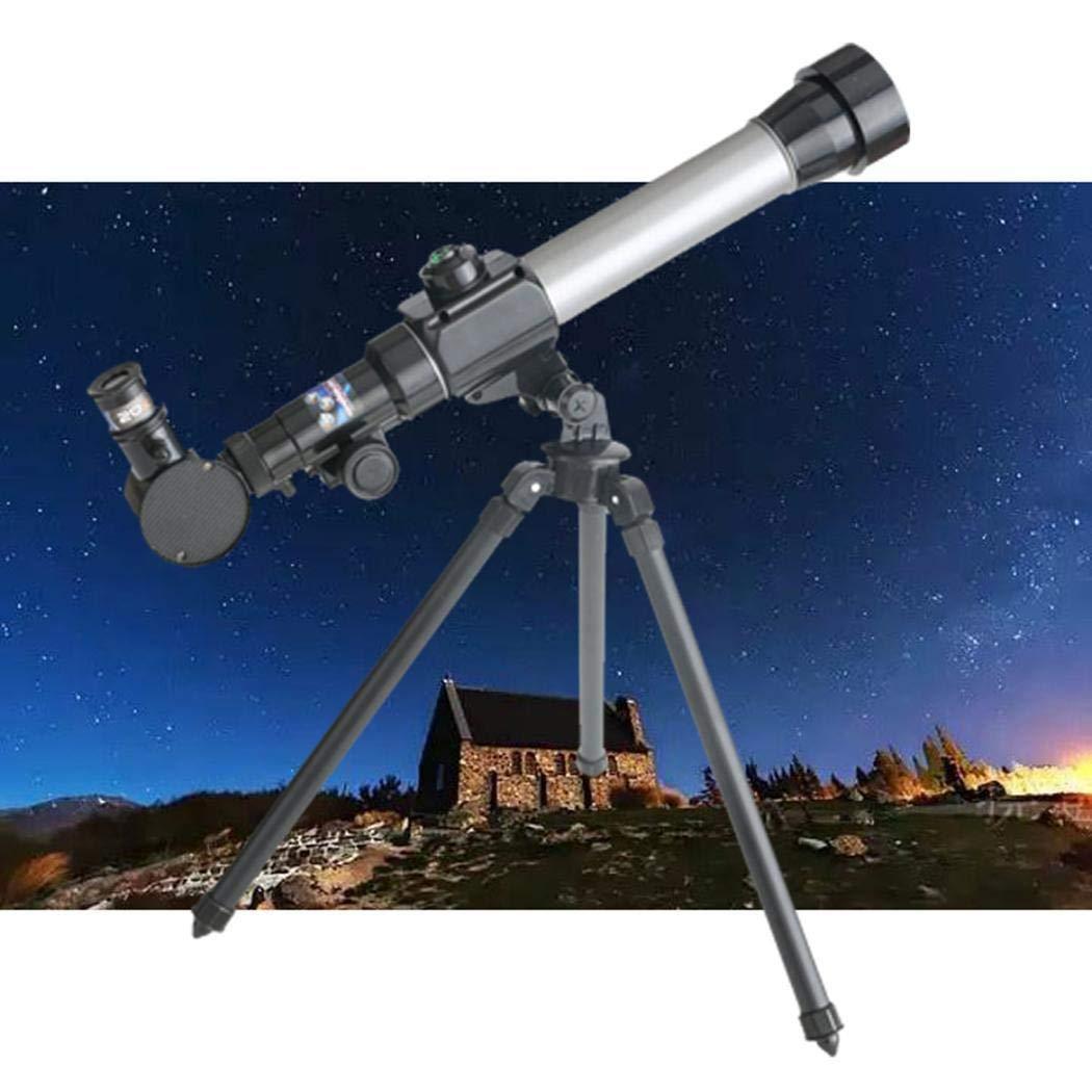 Zuionk Tragbares Refraktor-astronomisches Teleskop-Stativ-Monokular-Teleskop für Studenten Linsenteleskope
