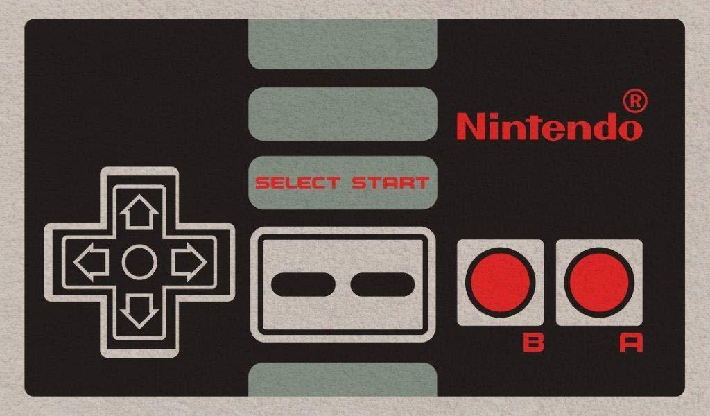 Nintendo Controller NES Classic Outdoor Doormat Door Mat 30x18 inch