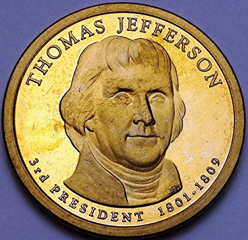 Unbranded 2007 S U.S. PROOF PRESIDENTIAL DOLLAR MINT CONDITION THOMAS JEFFERSON